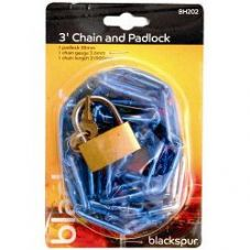 Blackspur Chain & Padlock - 3""